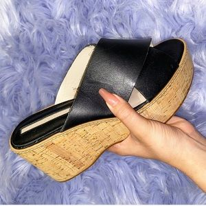 Black Double Strapped Zara Platforms
